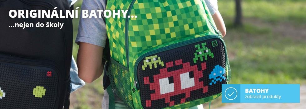 Kreativní pixelové batohy nejen do školy